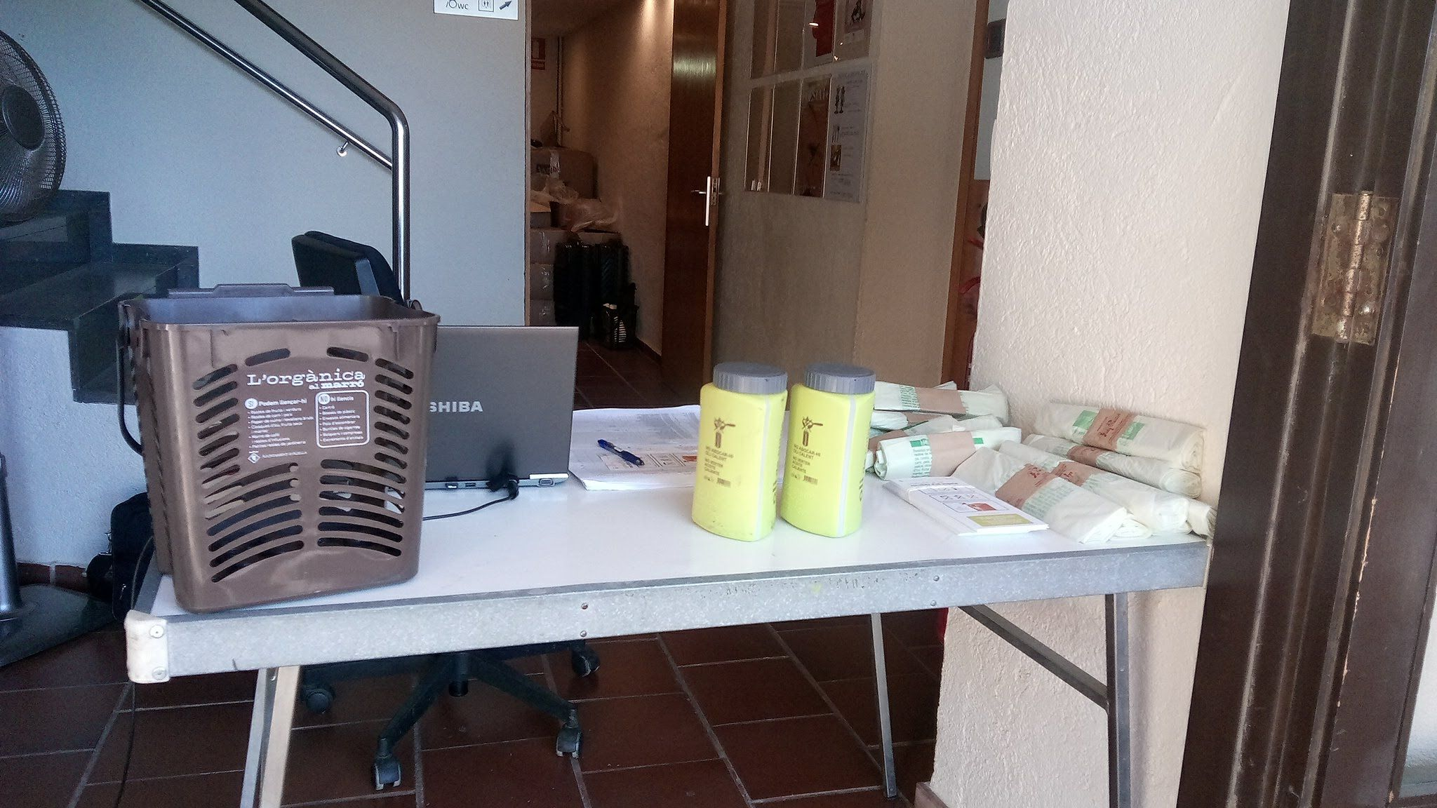 Lliurament de bosses compostables