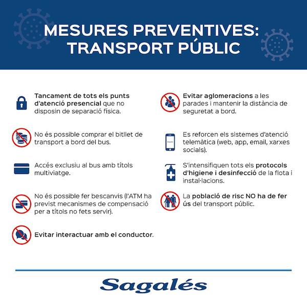Mesures preventives transport públicç