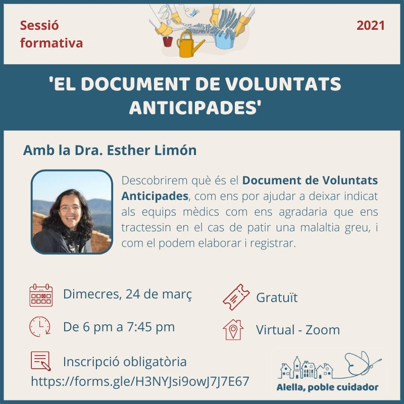 Sessió formativa sobre el document de voluntats anticipades
